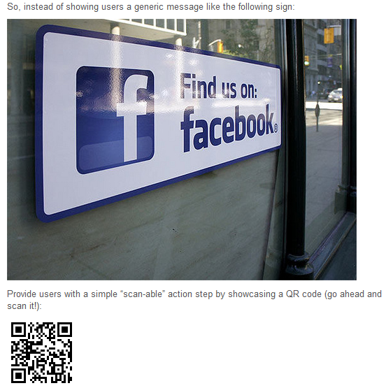 A quick read leads to your face book business page. Like??